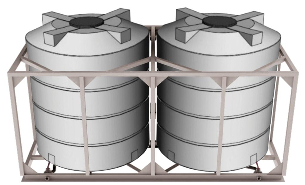 Кассеты для подвоза воды и жидких удобрений с 2-мя ёмкостями по 4500 литров объем 9 м куб.