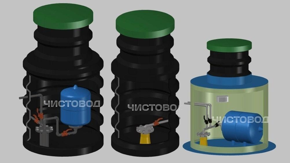 Кессоны пластиковые «Чистовод» Минск