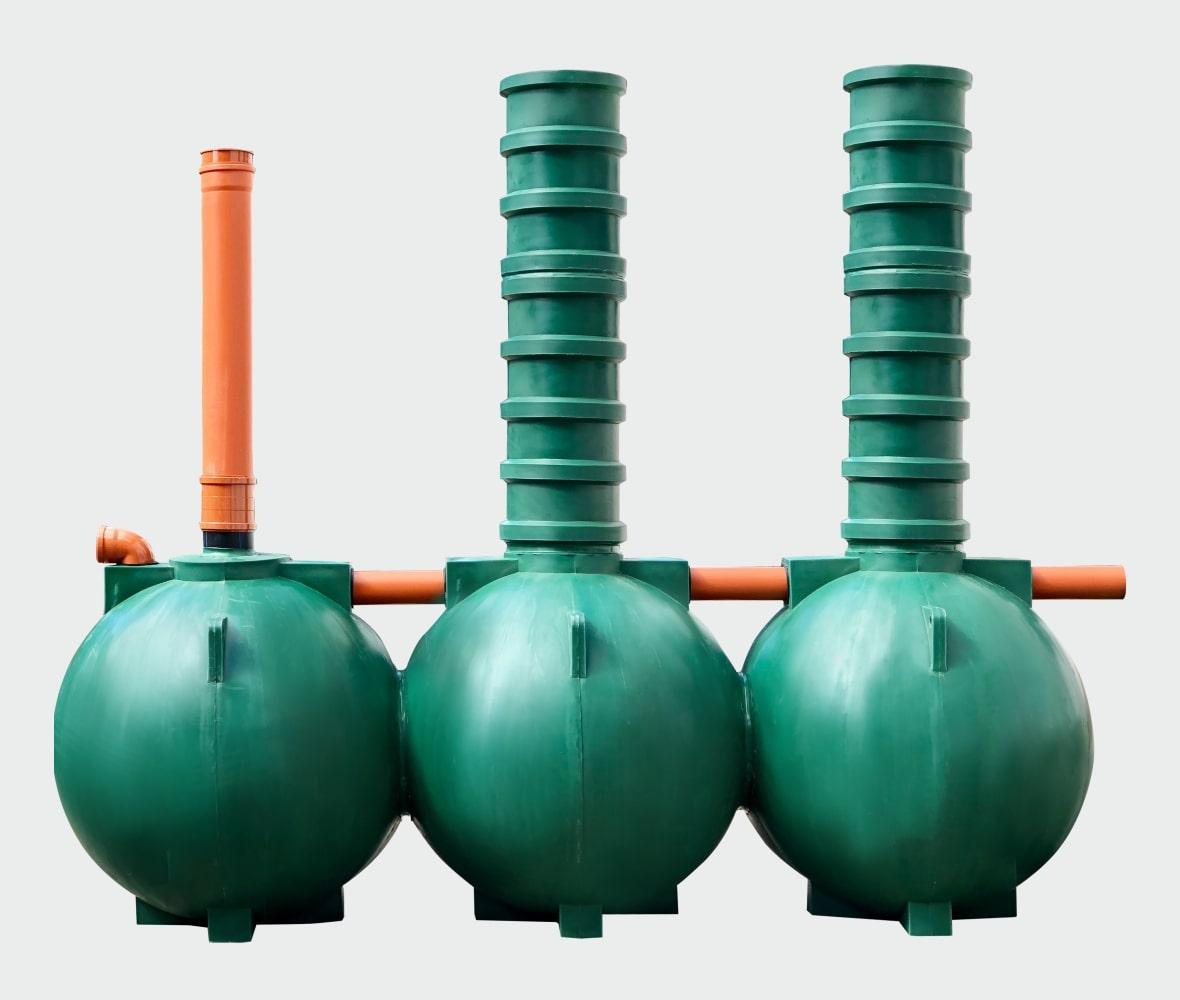 Система автономной канализации дома Чистовод Аэро-3-шар очистные сооружения
