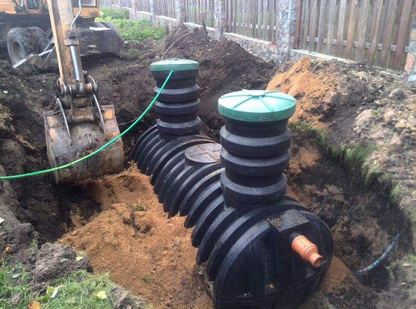 Накопительные ёмкости для канализации «Чистовод» - Фото установки и монтажа - Обсыпка ёмкости песком