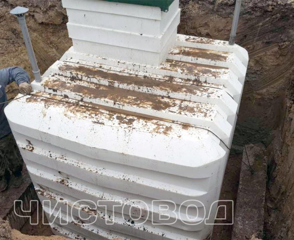 Монтаж пластикового погреба Чистовод фото 4