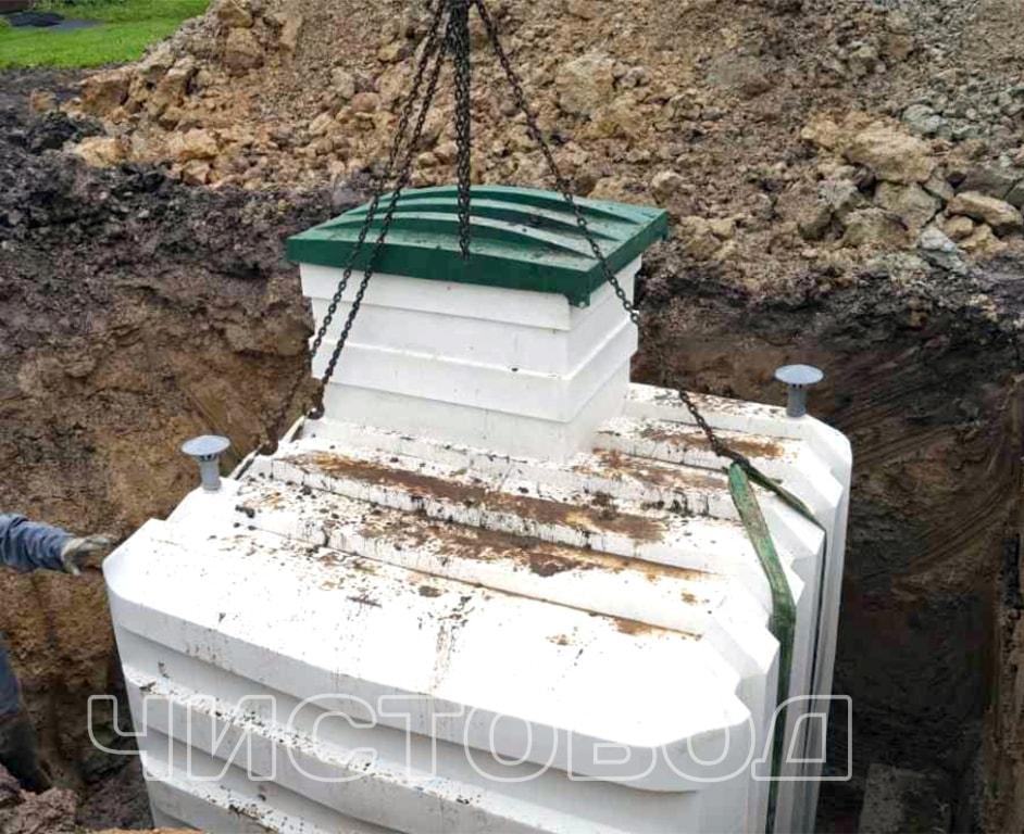 Монтаж пластикового погреба Чистовод фото 5