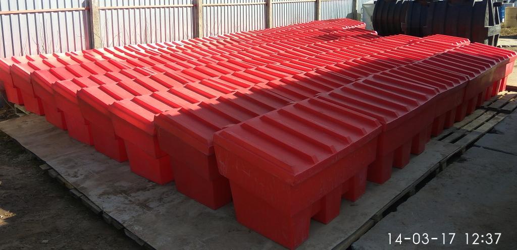 Ящики для песка пожарные 250 литров пластиковые