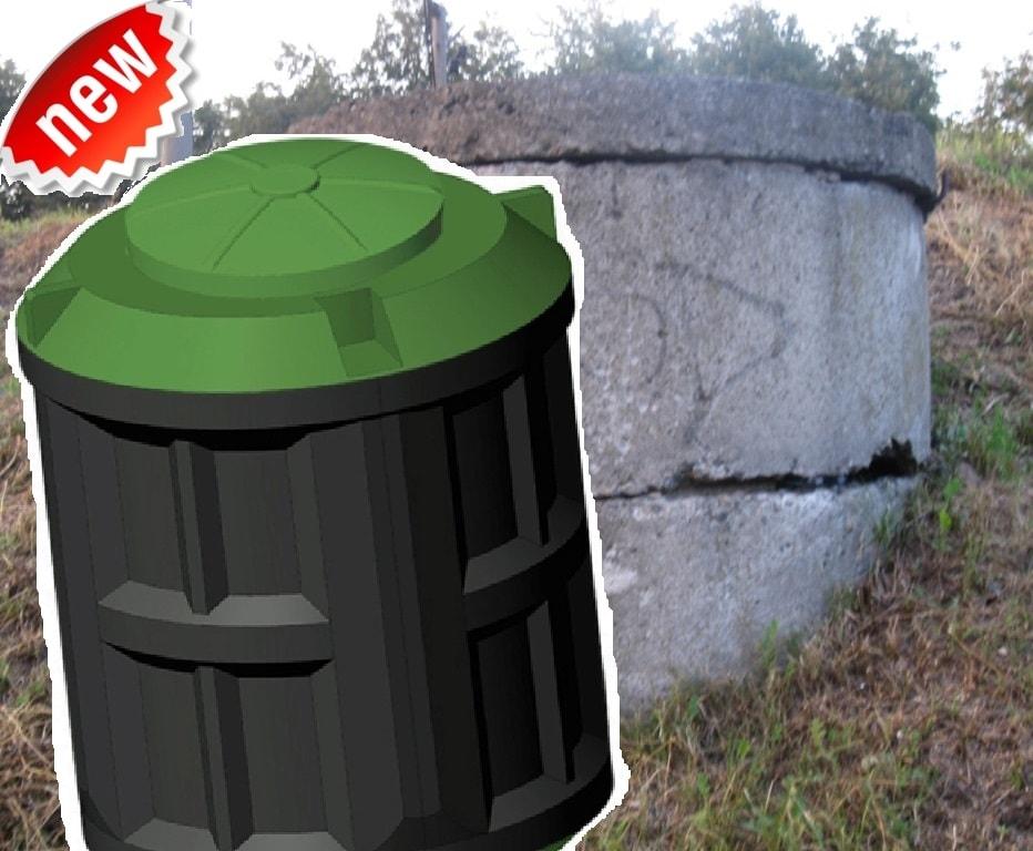 Ремонт и модернизация септика из бетонных колец установкой очистительной вставки (ЛОС) Чистовод