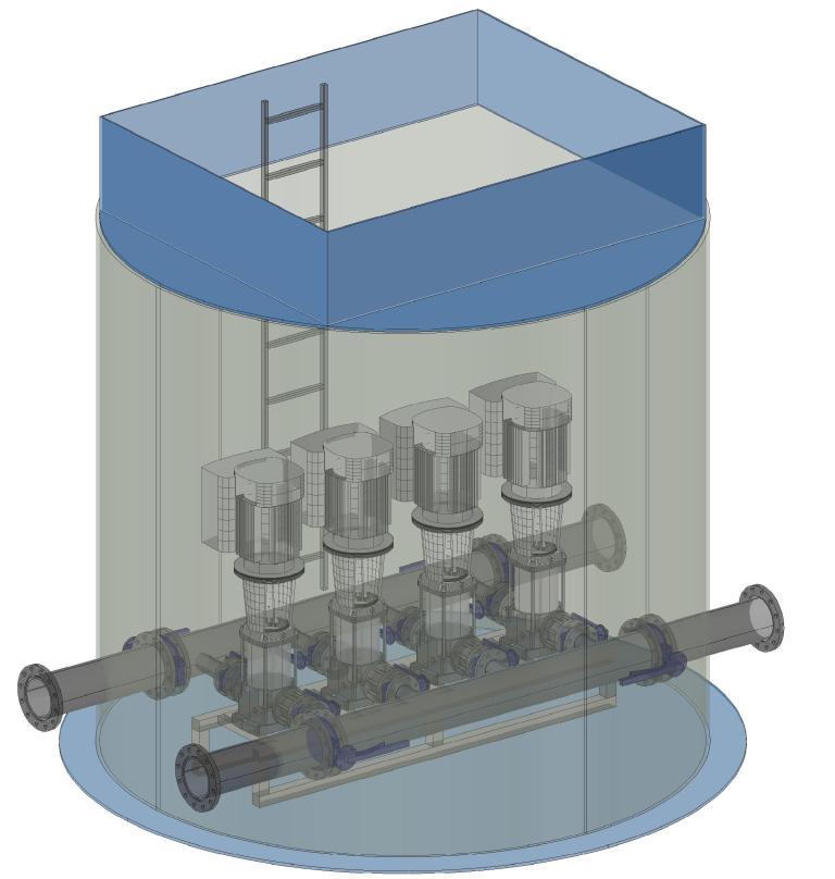 Водопроводные насосные станции второго подъема, повысительные насосные станции и насосные станции оборотного водоснабжения завода Чистовод