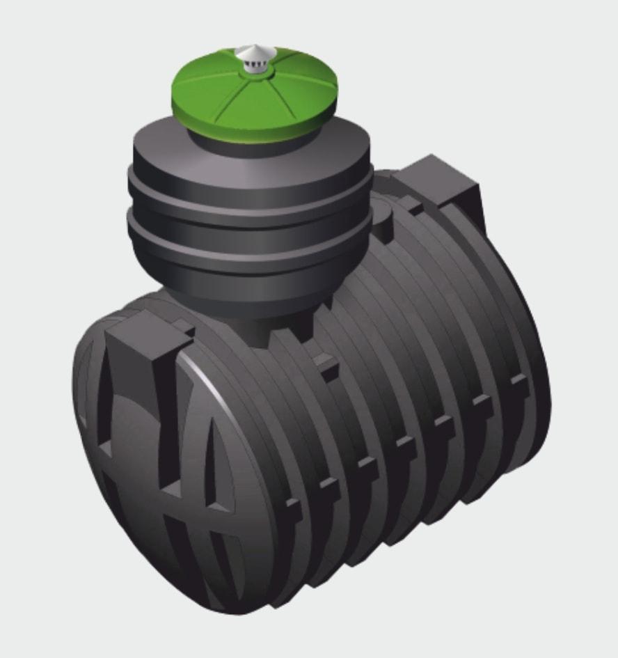Аэробный септик Чистовод Эко-8 для автономной локальной канализации частного дома