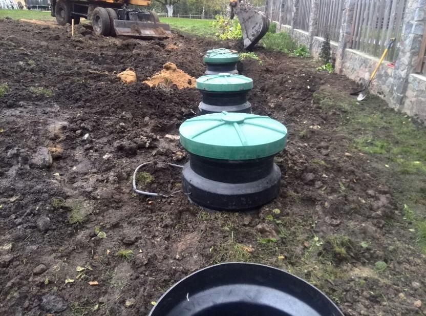 Накопительные ёмкости для канализации «Чистовод» - Фото установки и монтажа - Горловины и крышки ёмкости после монтажа