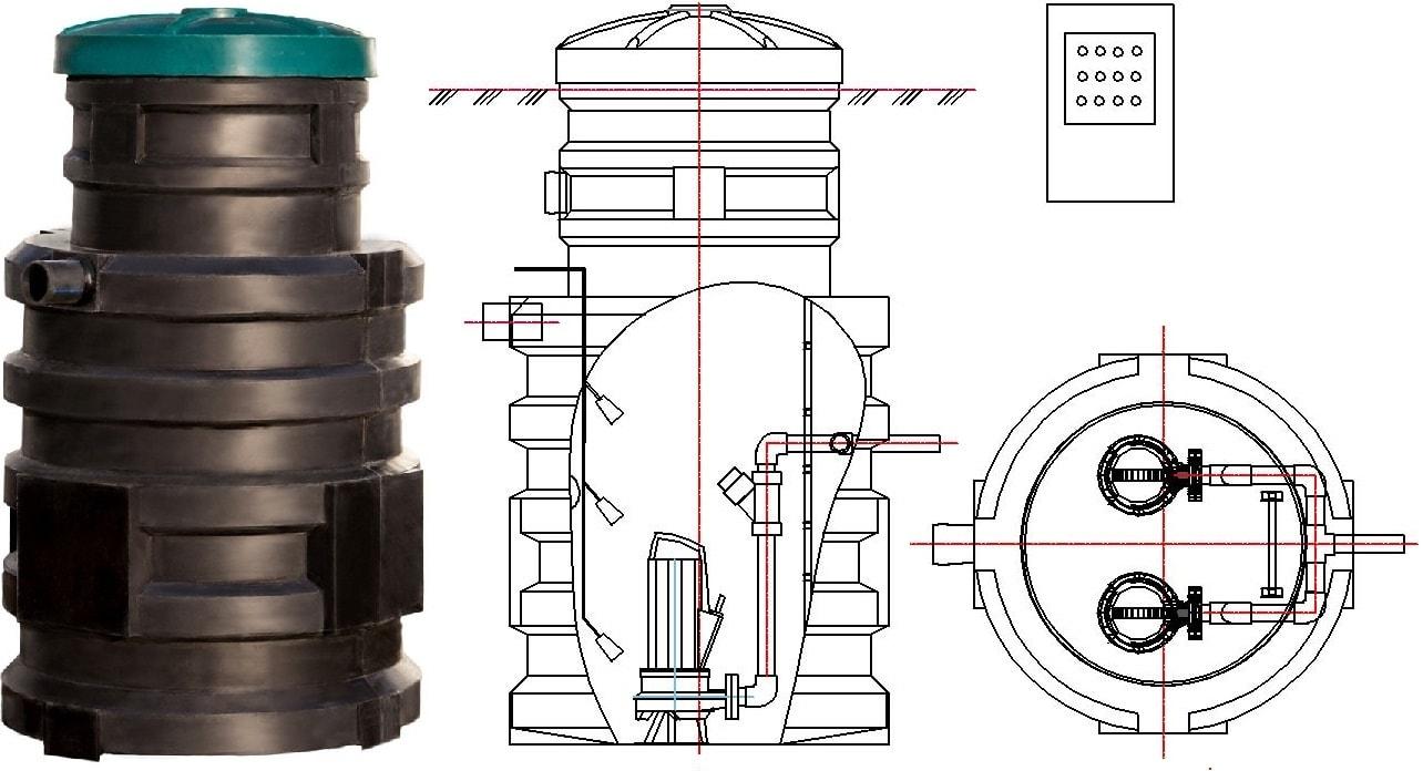 Станция КСН Чистовод-1100 - канализационная насосная станция средней мощности