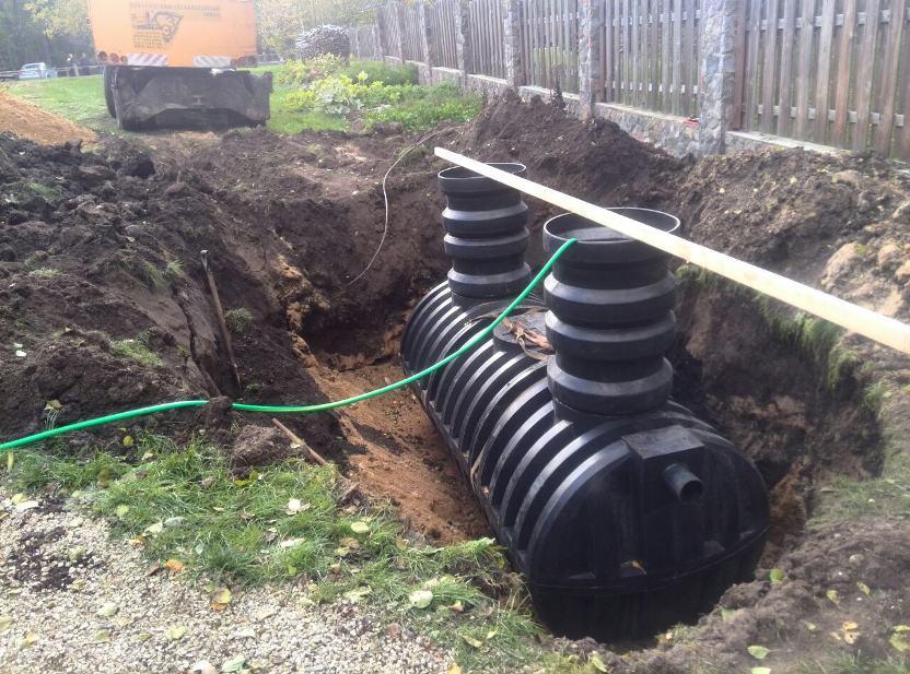 Накопительные ёмкости для канализации «Чистовод» - Фото установки и монтажа - Монтаж ёмкости 8куб