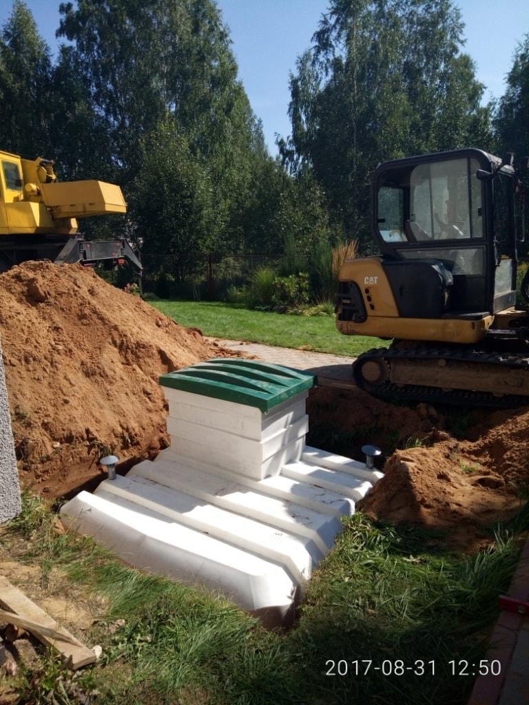 Монтаж пластикового погреба Чистовод