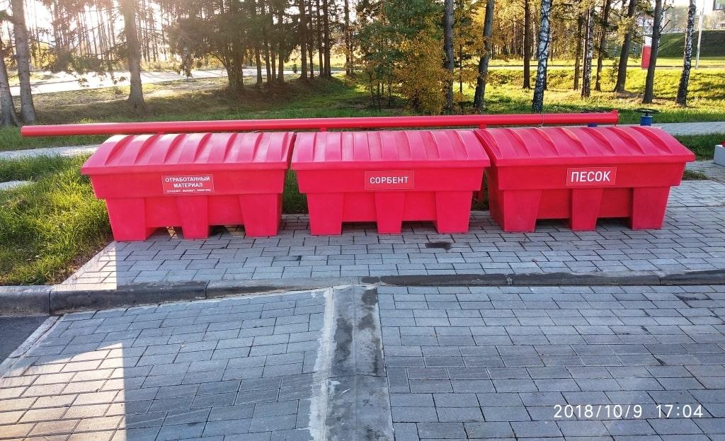 Пластиковые пожарные ящики Чистоград на автозаправочных станциях АЗС города. Минск