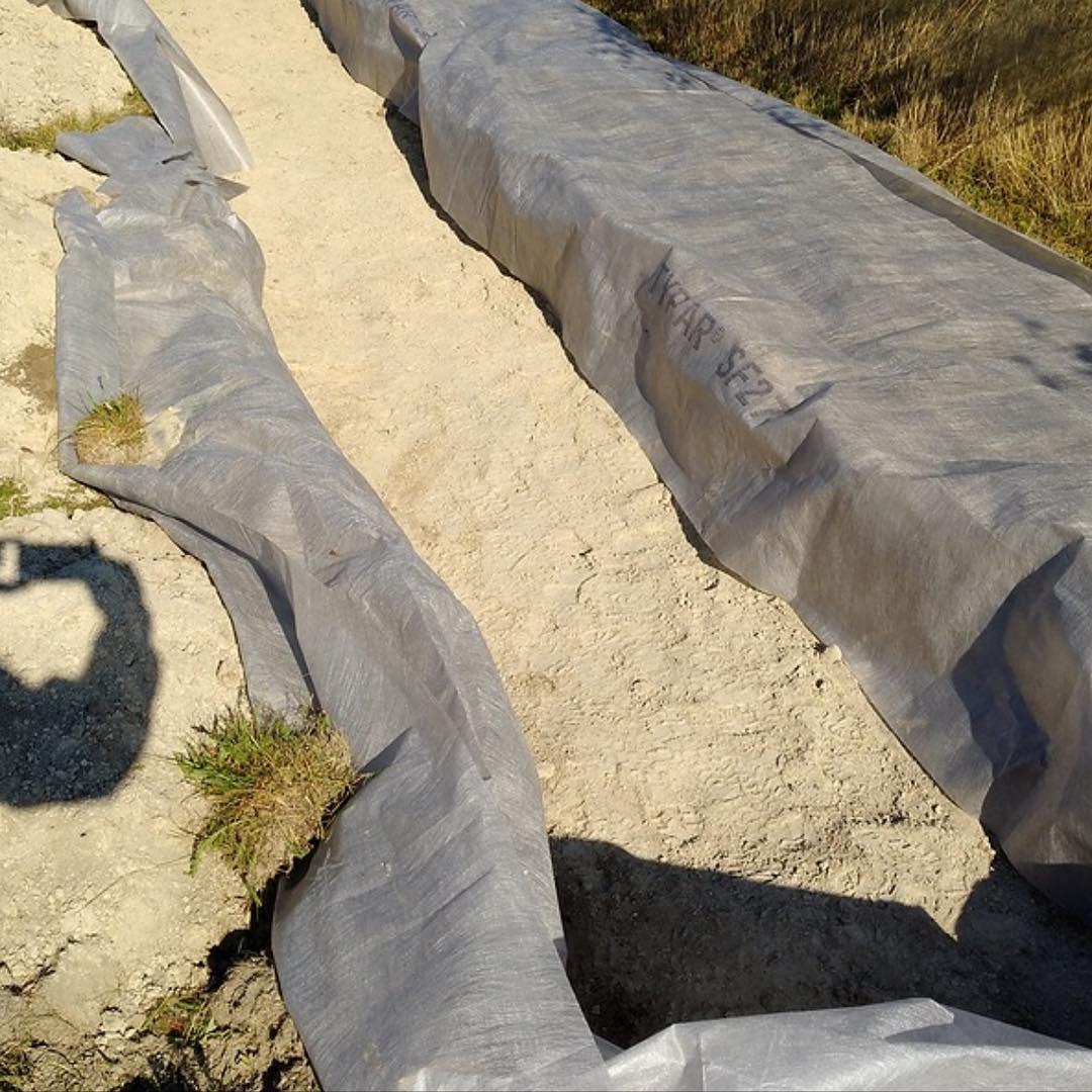 Наземное поле фильтрации после очистных сооружений из дренажных тоннелей Чистовод