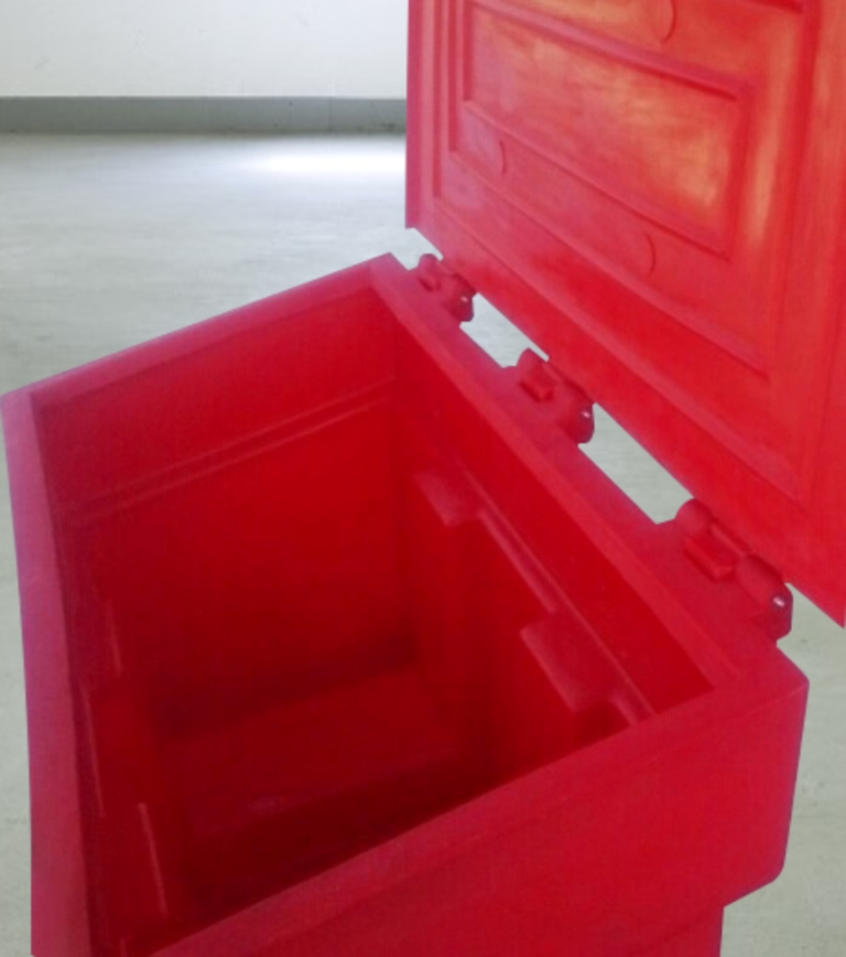 Пожарный ящик для песка пластиковый 500 литров. Производство РБ Беларусь. Завод Белтехагропласт, Чистовод, Минск