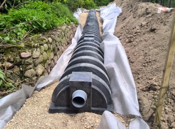 Установка дренажных тоннелей ЛОС