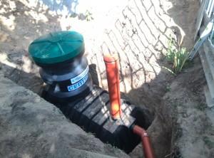 Аэробный септик автономной канализации в частном доме в яме